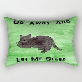 Go Away and Let Me Sleep Rectangular Pillow