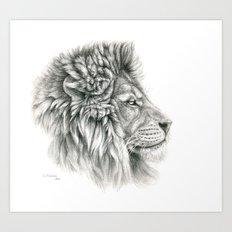Lion - profile G044 Art Print