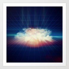 Disco Cloud Art Print