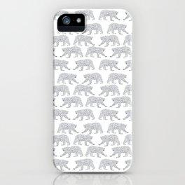 Polar Bears geometric trendy kids bear pattern print for boy or girl gender neutral iPhone Case