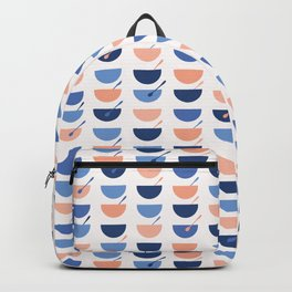 Cereal Soup Bowl Vector Pattern Seamless Backpack