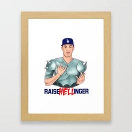 """""""Raise HELLinger"""" Cody Bellinger Framed Art Print"""