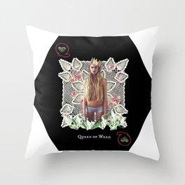 QUEEN OF WEED Throw Pillow