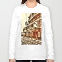 broadway Long Sleeve T-shirts featuring Give My Regards To Broadway by Christine Workman