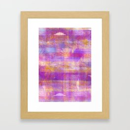 Marbled Patchwork Framed Art Print