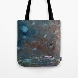 Moon over troubled waters Tote Bag