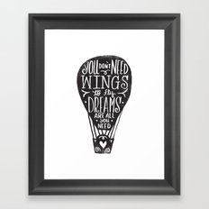 wings & dreams Framed Art Print
