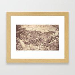 Auguste-Rosalie Bisson - Ascent of Mont Blanc (1860) Framed Art Print