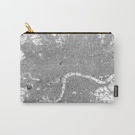 Vintage Map of London England (1862) BW Carry-All Pouch