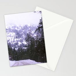 Snowy Back Road Stationery Cards
