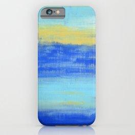 Relaxing Beach Aqua Turquiose Nautical Abstract Art iPhone Case