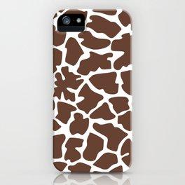 Animal Print (Giraffe Pattern) - Brown White iPhone Case
