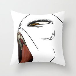 Mouthwork (Unfinished) Throw Pillow