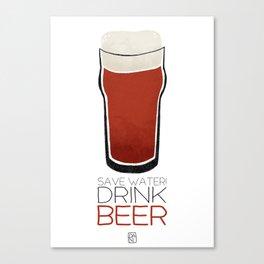 Save Water - Drink Beer Canvas Print