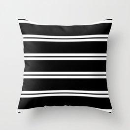 Strips - black and white. Throw Pillow