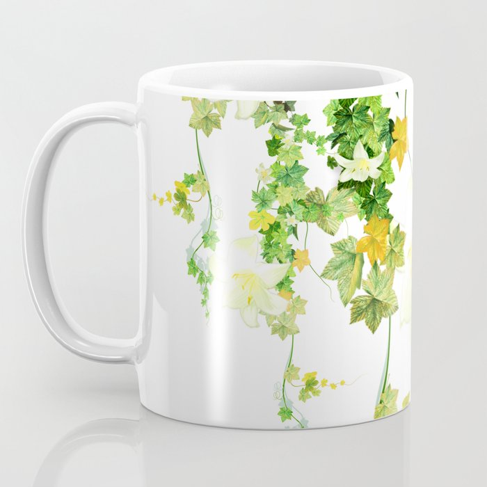 Watercolor Ivy Kaffeebecher