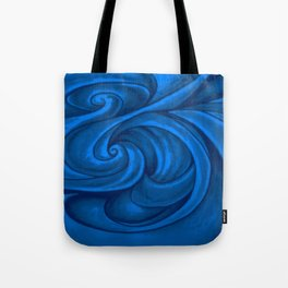 swirl (dark blue) Tote Bag