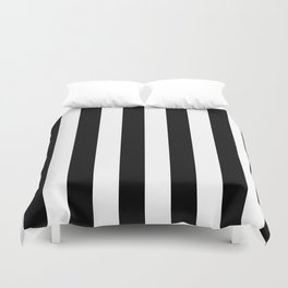 Black & White Vertical Stripes - Mix & Match with Simplicity of Life Duvet Cover