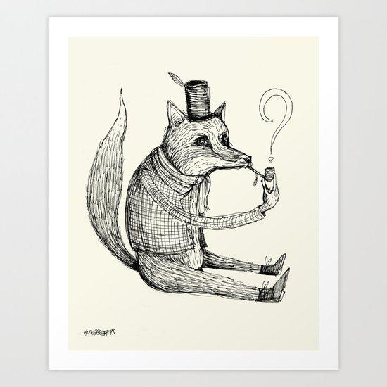 'Theories' (Sketch) Art Print