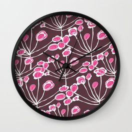 Floral Sprigs Wall Clock
