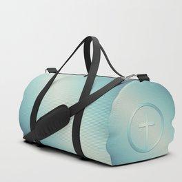 Retro Cross Emblem Graphic Duffle Bag