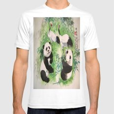 bamboo orchestra Mens Fitted Tee MEDIUM White
