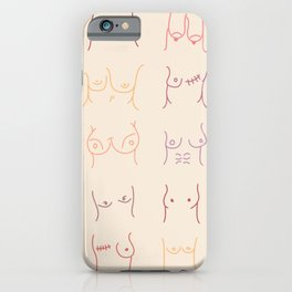 Boobs Pastel Drawing iPhone Case