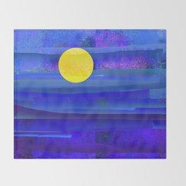 Yellow Moon Throw Blanket