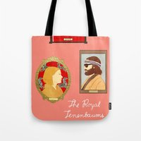 tenenbaums Tote Bags featuring The Royal Tenenbaums by Anna Valle