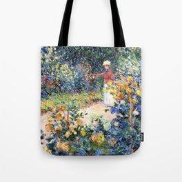 In the Garden Claude Monet 1895 Tote Bag