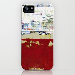 Ragged Glory Red Abstract Landscape iPhone Case