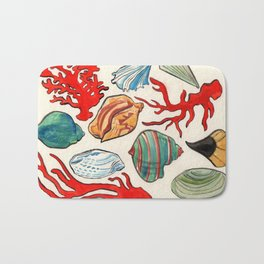 Sea Life Watercolor Bath Mat