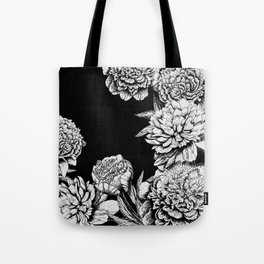FLOWERS IN BLACK AND WHITE Tote Bag