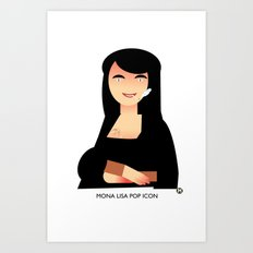 Mona Lisa pop icon Art Print