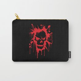 Bloody Skull   Heavy Metal Illustration Carry-All Pouch