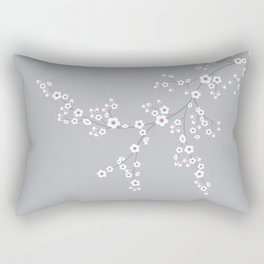 Abstract Japanese Floral Rectangular Pillow