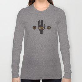 Black Third Eye Palm Long Sleeve T-shirt