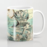 the last unicorn Mugs featuring Last Unicorn Journey  by Christina Siravo