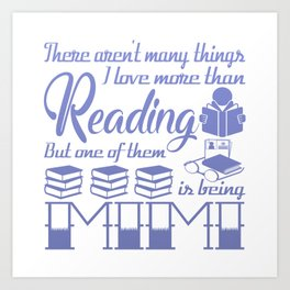 Reading Mimi Art Print