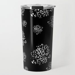 Wild Dots Black Travel Mug