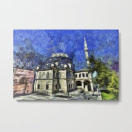 Istanbul Mosque Van Gogh Metal Print