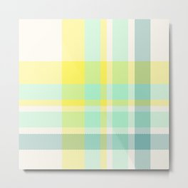 Summer Plaid 11 Metal Print