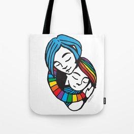 Mama Heart Pride Tote Bag