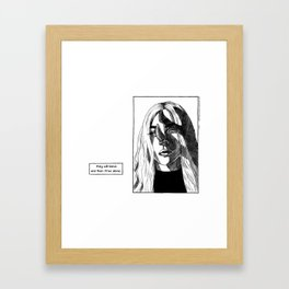 g a g a Framed Art Print