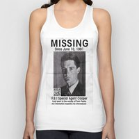 dale cooper Tank Tops featuring Missing Dale Cooper ... 2016 by Allelujah