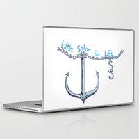 sam smith Laptop & iPad Skins featuring Sam Little Sailor by Annette Jimerson