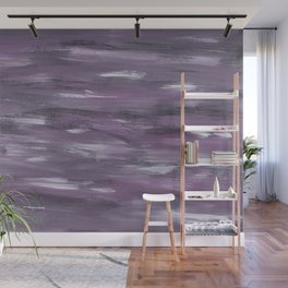 Touching Purple Black White Watercolor Abstract #1 #painting #decor #art #society6 Wall Mural