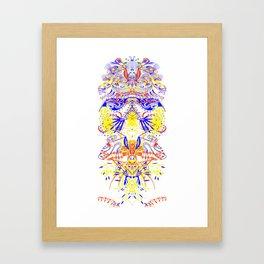 Chick totem Framed Art Print