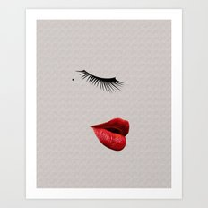 Kiss me like you do Art Print