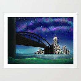 Skyline Artwork Art Print